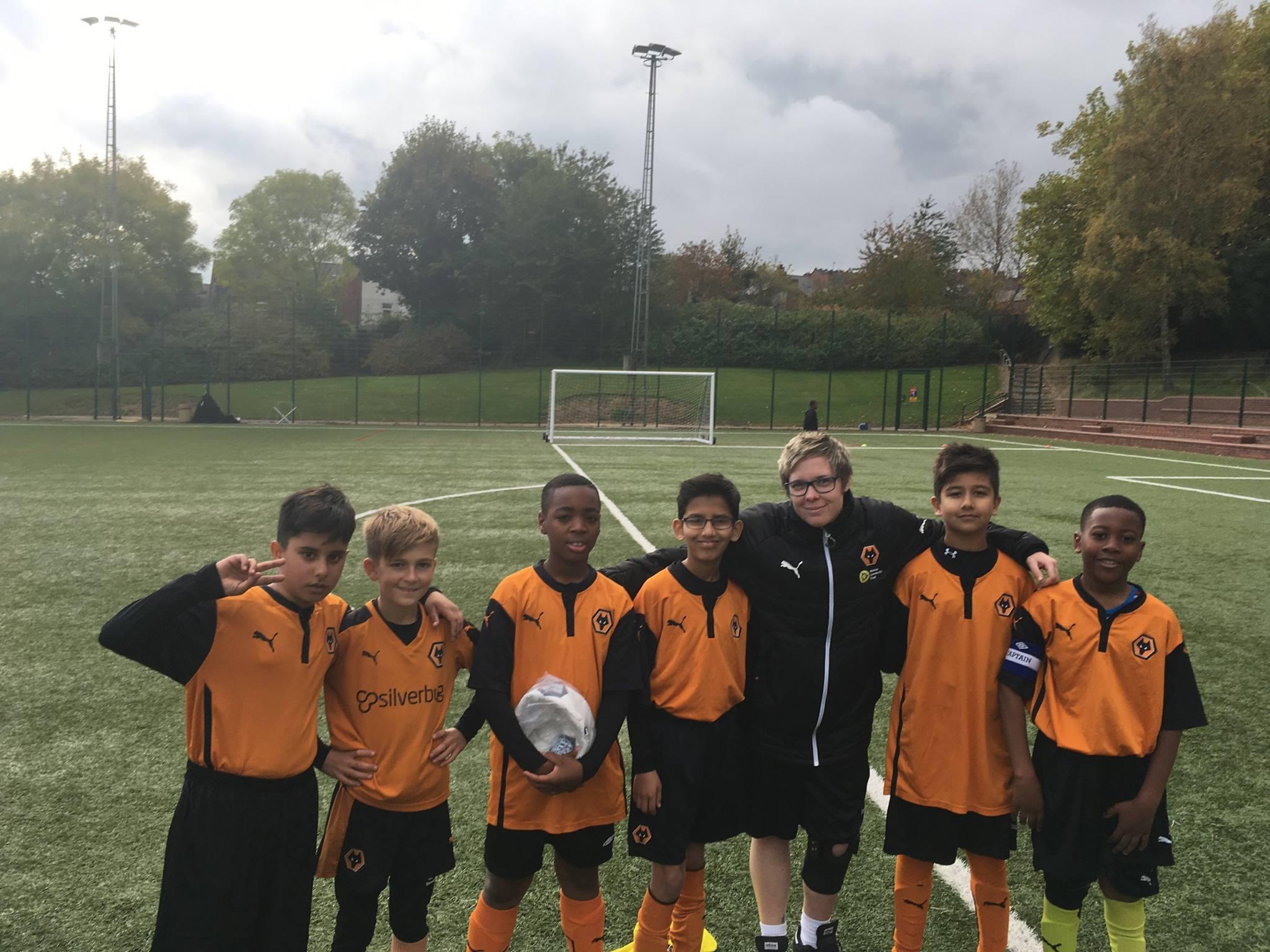 The Way Junior Football Team with Chloe